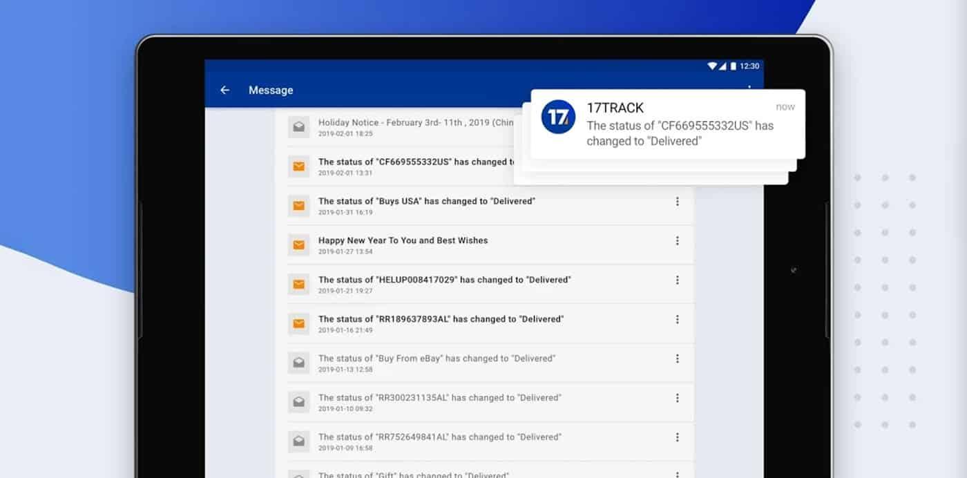 17track notificaciones