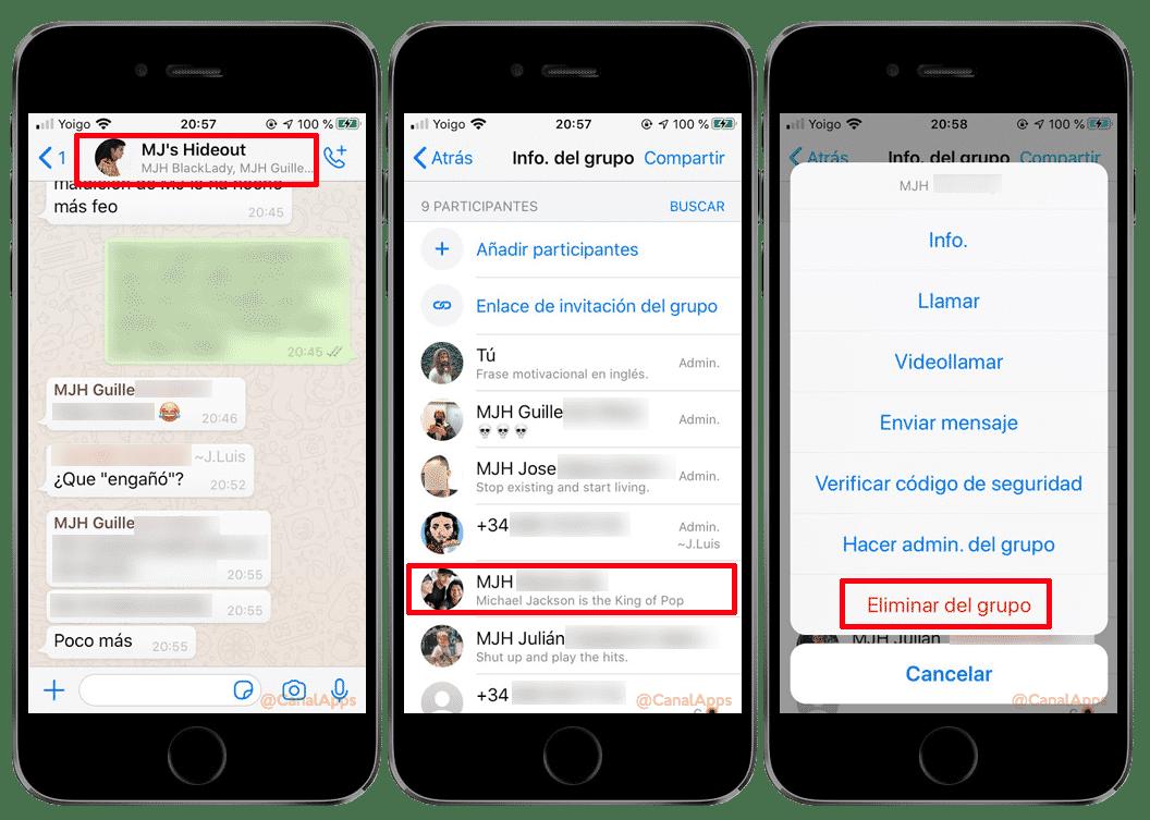 eliminar grupo de whatsapp