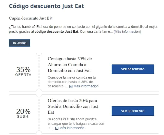 just-eat descuento
