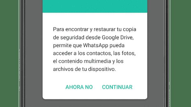 Restaurar copia de seguridad de chats de WhatsApp en Android