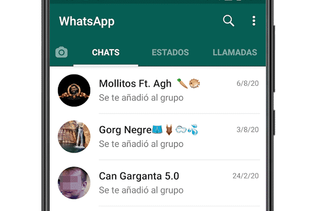 Chats de WhatsApp para Android
