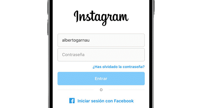 iniciar sesion instagram