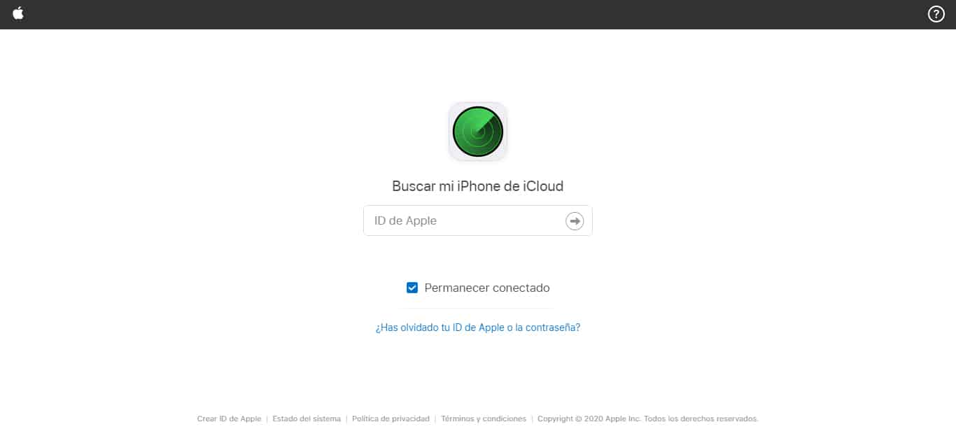 encontrar iphone icloud