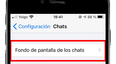 fondo de pantalla de los chats de whatsapp iphone