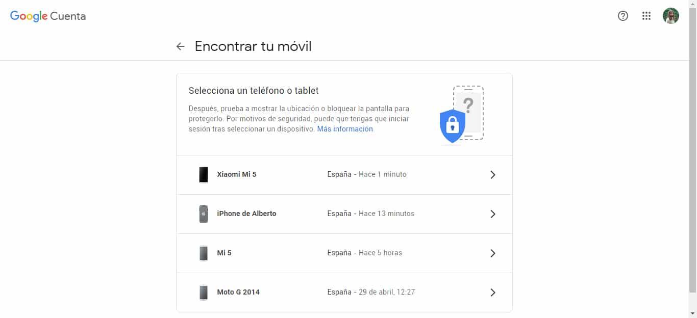 encontrar mi dispositivo android google