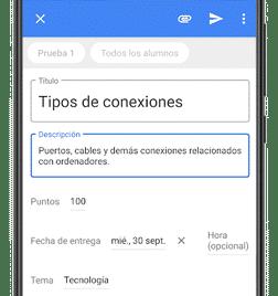 configurar tarea google classroom