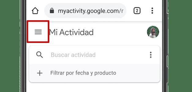 web de google mi actividad