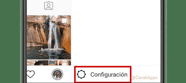 Acceder a la configuración de Instagram
