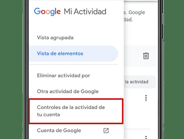 Controles de la actividad de tu cuenta Google Mi Actividad