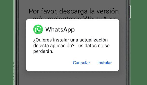Antes de instalar el APK de WhatsApp