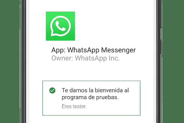 Registrarse en el programa de betatesters de WhatsApp Android