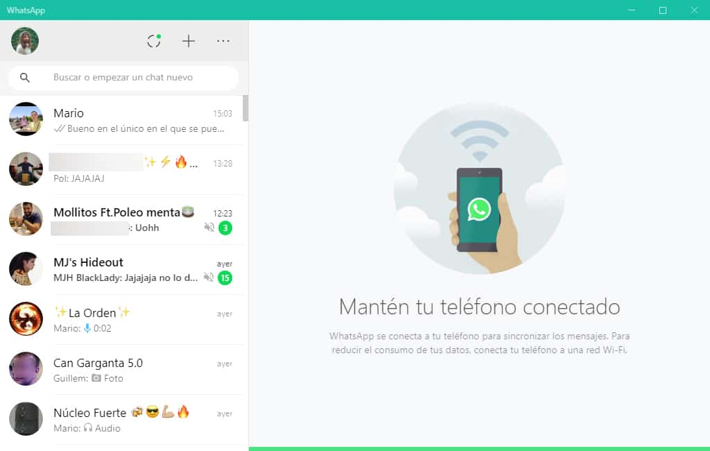WhatsApp Desktop funcionando en PC y Mac