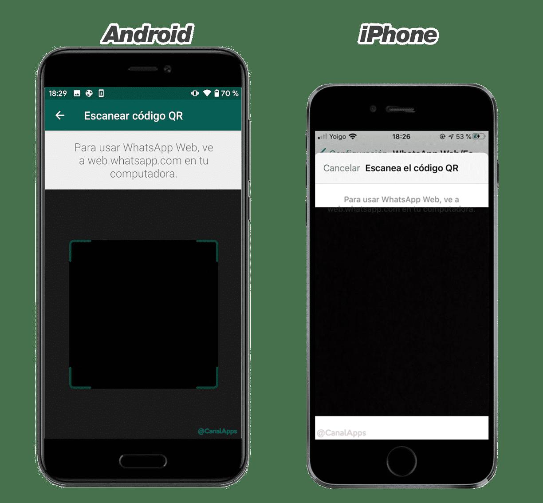Escanear el código QR de WhatsApp con el smartphone