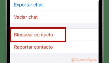 info de contacto en whatsapp bloquear