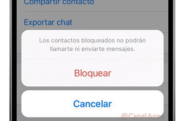 bloquear contacto whatsapp iphone