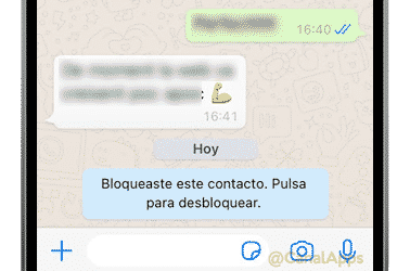 contacto whatsapp bloquear