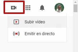 Subir vídeo en youtube