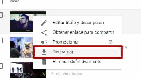 descargar video del youtube studio