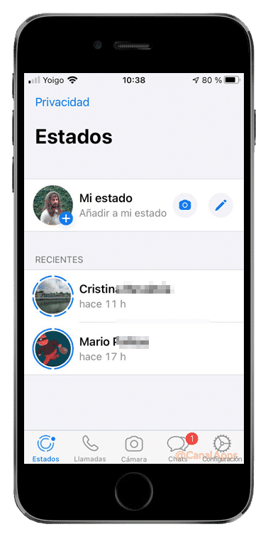 estados whatsapp historias