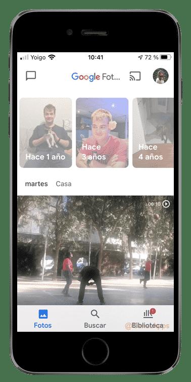 google fotos historias