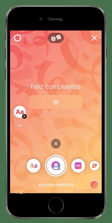instagram historia crear feliz cumpleaños