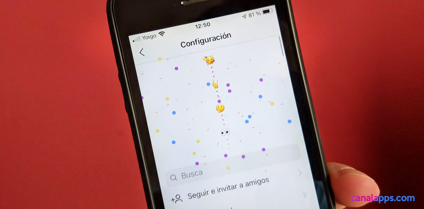 instagram menu secreto iconos aniversario