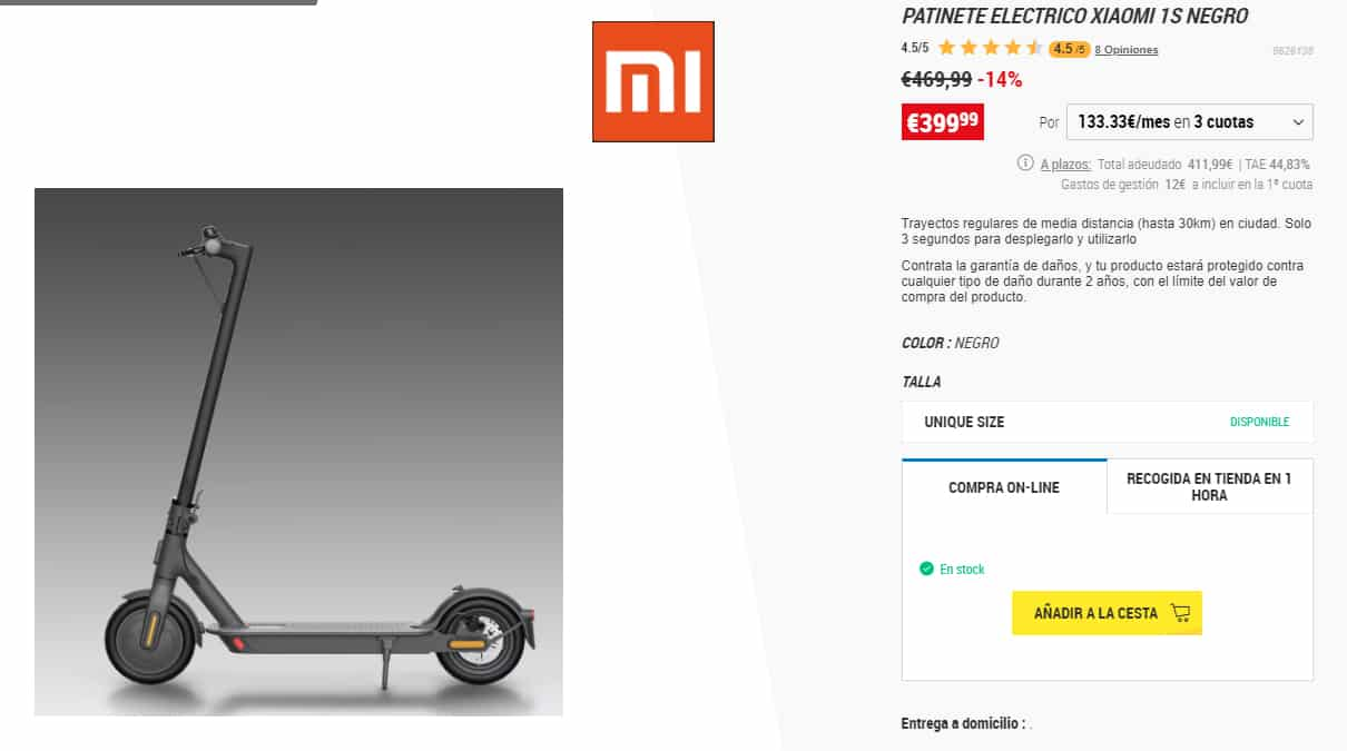 patinete xiaomi 1s decathlon