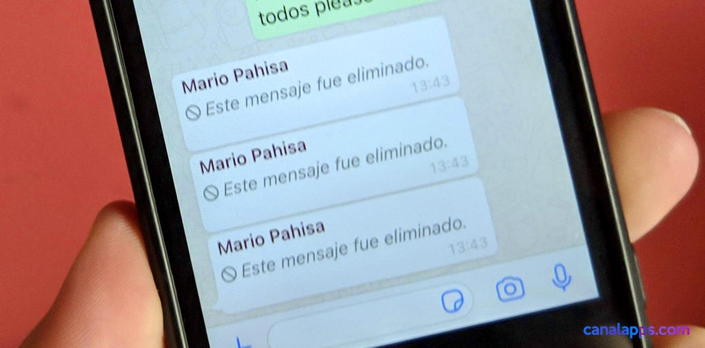 ver mensajes eliminados whatsapp