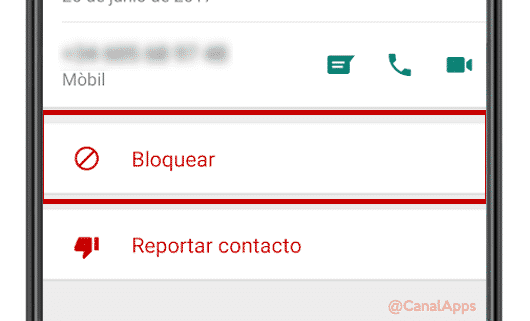 bloquear contacto whatsapp info android