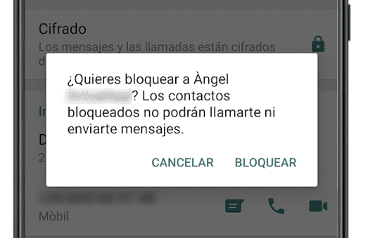 bloquear contacto whatsapp android