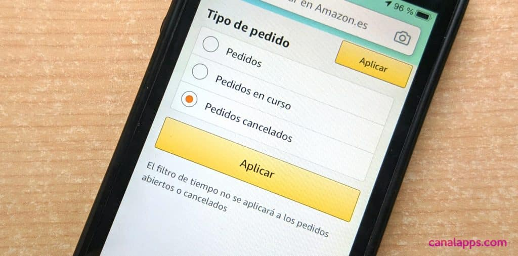 amazon cancelar perdido app iphone