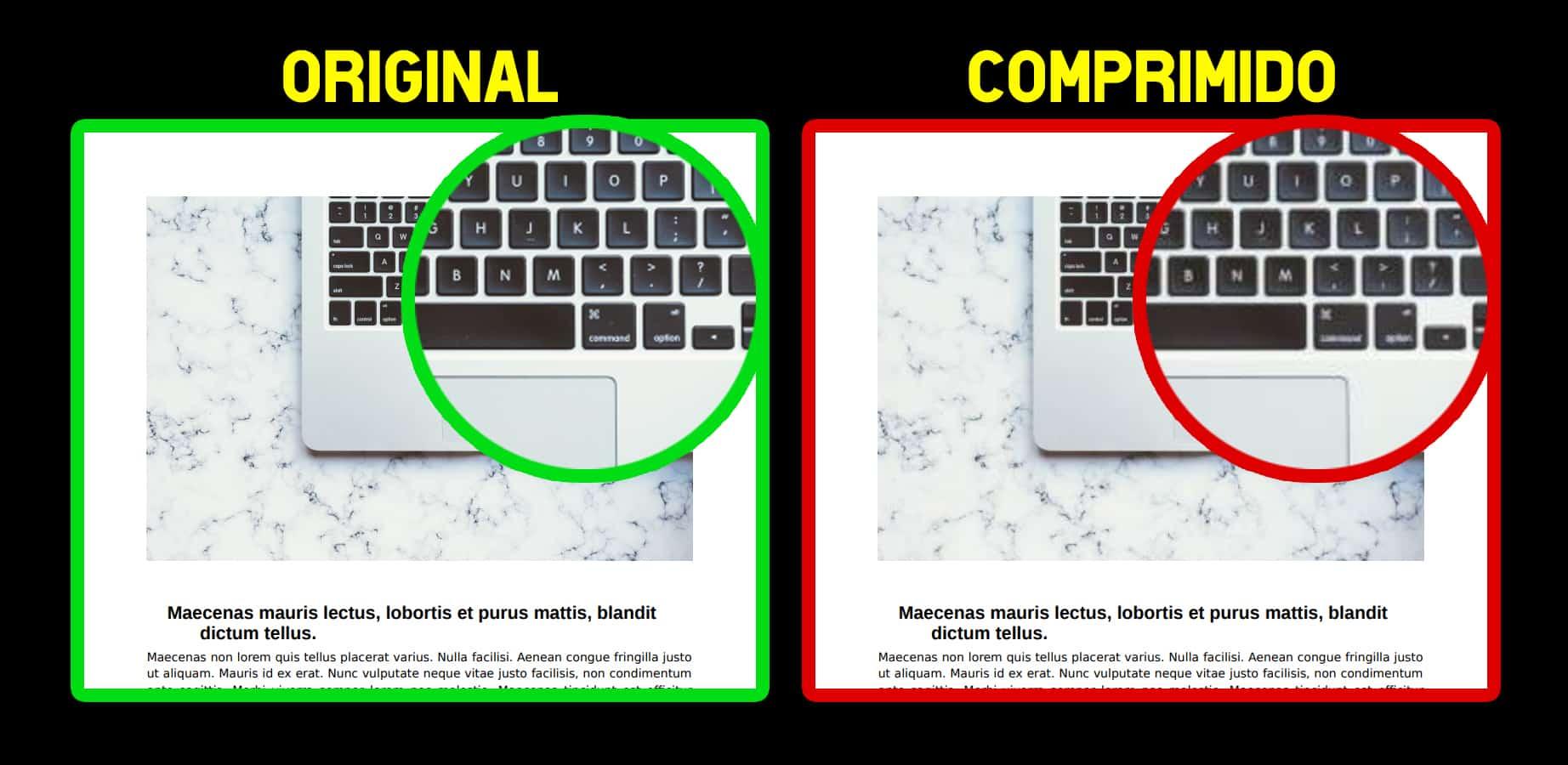 comparativa PDF comprimido