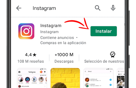 descargar instagram en google play