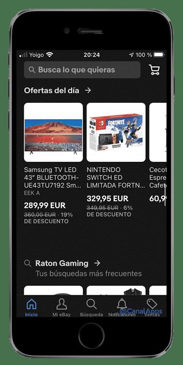 app ebay ofertas