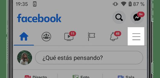 facebook menú app