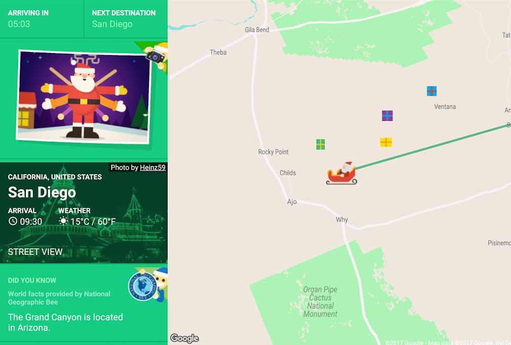 santa tracker papa noel tablet