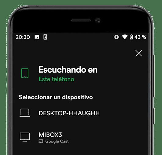 spotify escuchar en varios dispositivos