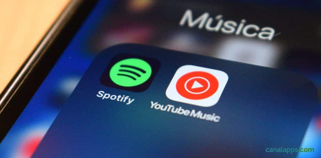 spotify y youtube music apps