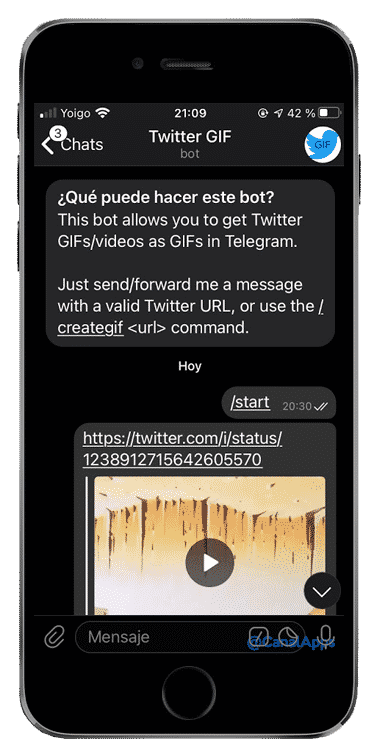 telegram bot descargar gif
