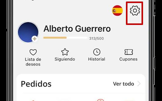 ajustes aliexpress app