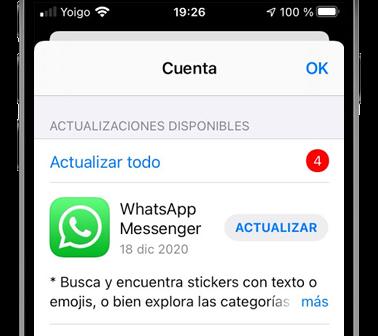 actualizar whatsapp app store ios iphone