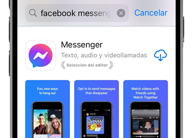 app store buscador facebook messenger