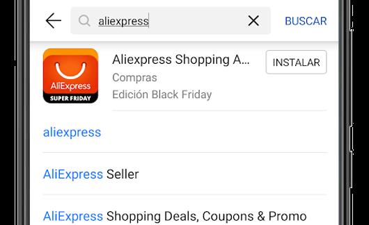appgallery en android buscador aliexpress