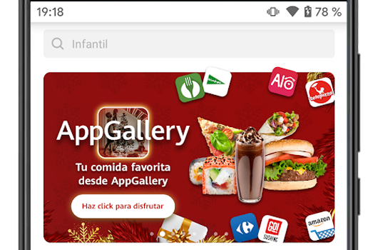 appgallery en android menu principal