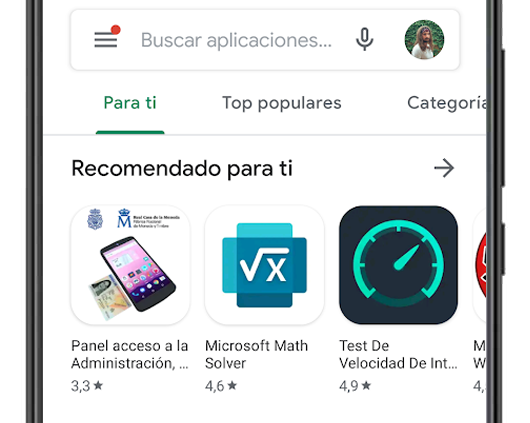 google play buscador apps
