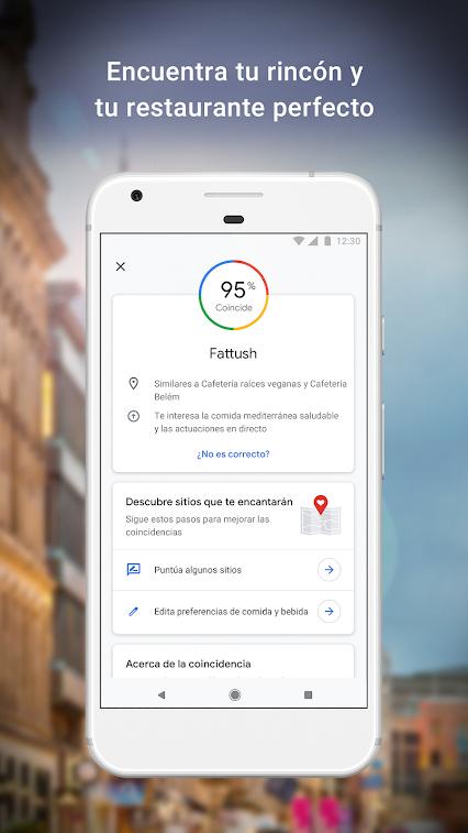 google maps puntuación restaurante