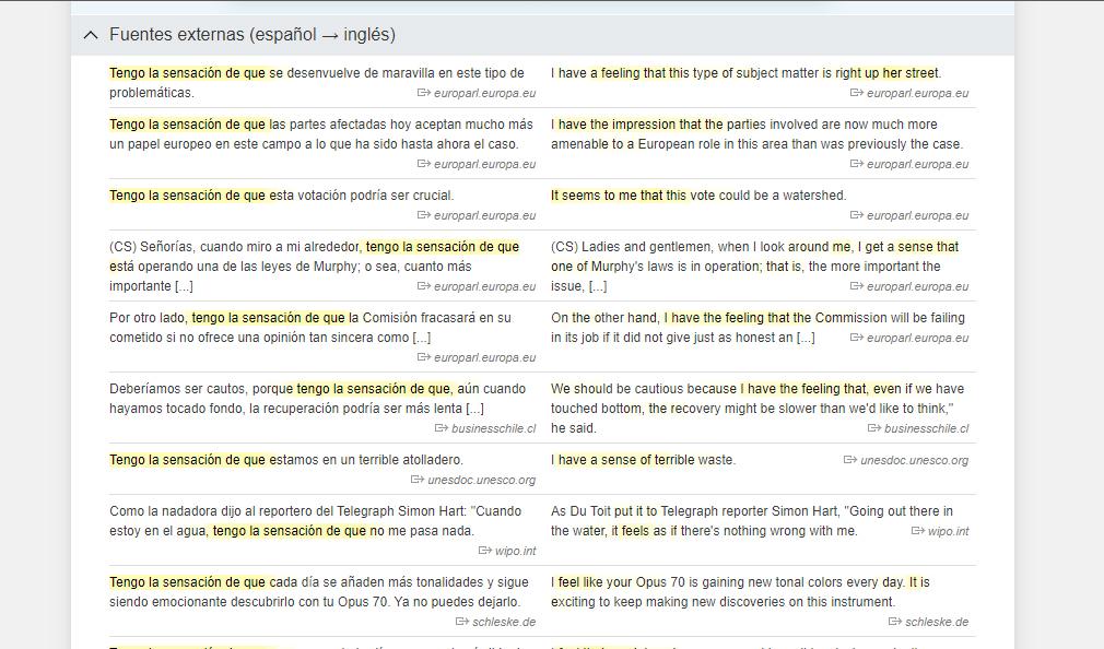 linguee traduccion español ingles contexto