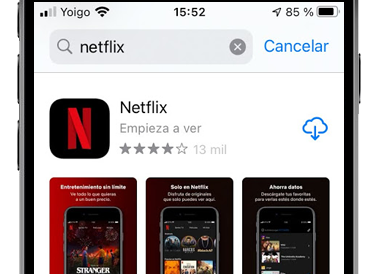 netflix app store iphone