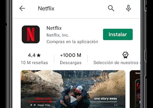 netflix google play buscador