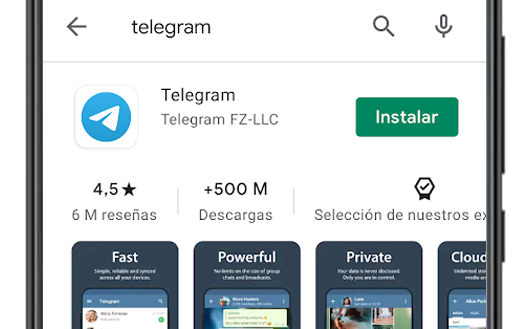 descargar telegram en el google play